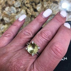 Authentic David Yurman Chatelaine Citrine Ring